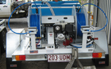 Weed Spraying Hire Equipment - 600L dual reel quikspray unit on trailer