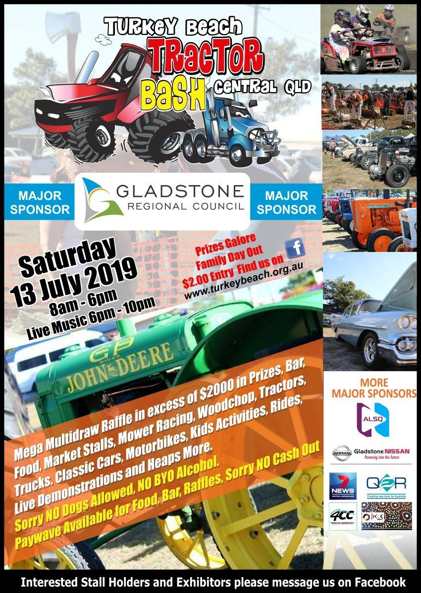 Turkey Beach Tractor Bash 2019 flyer