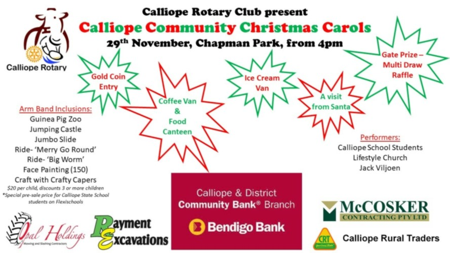 Calliope Community Christmas Carols Flyer
