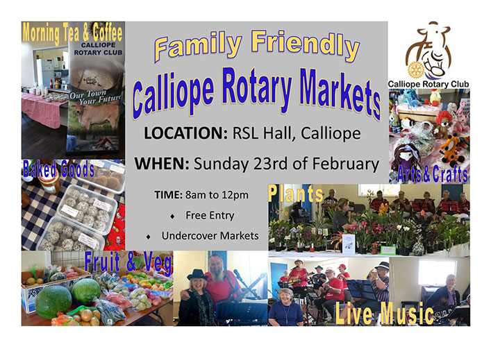 Calliope rotary markets poster