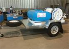 Weed Spraying Hire Equipment - Dual reel quikspray unit on trailer
