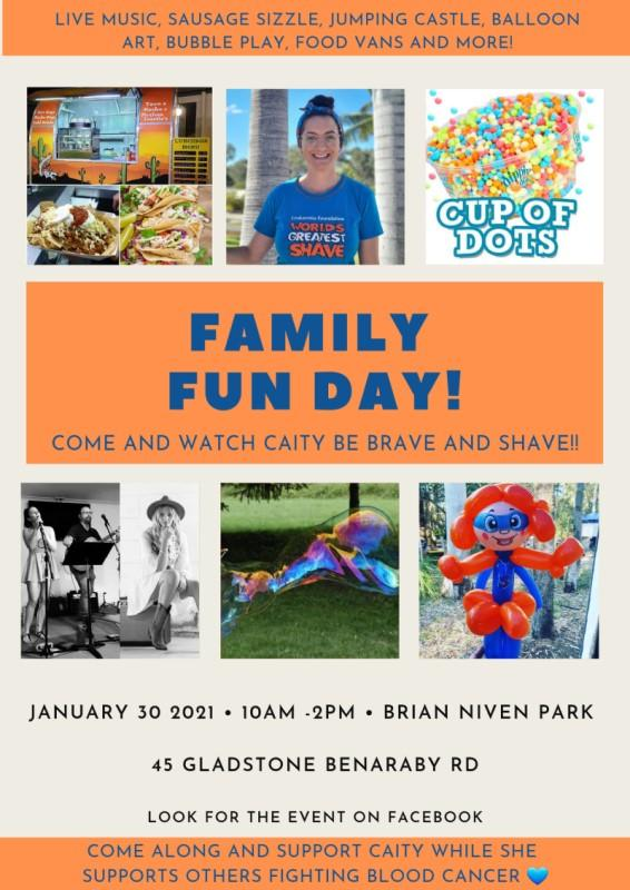 Family fun day shave for a cure