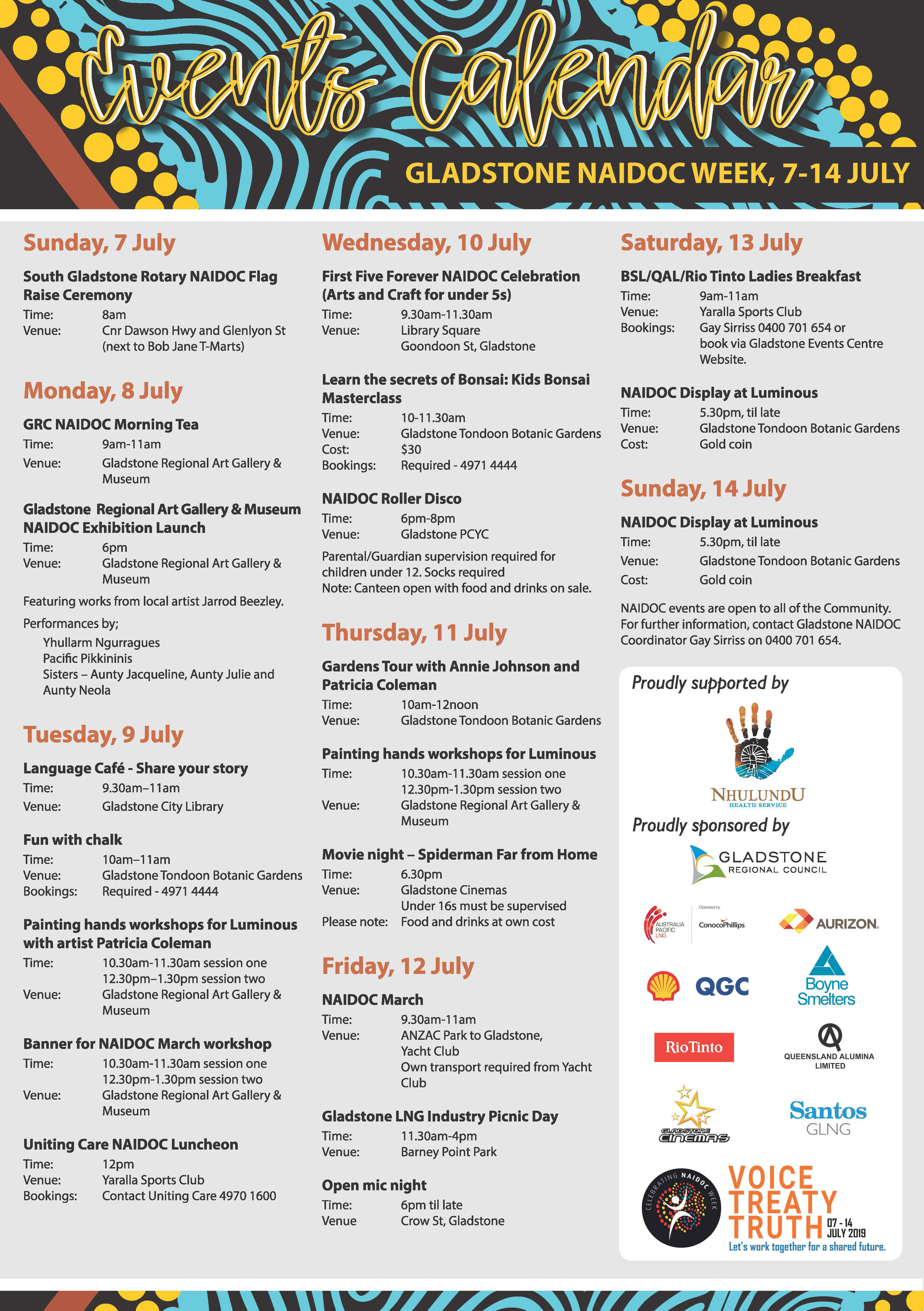 NAIDOC Week 2019 Events Poster