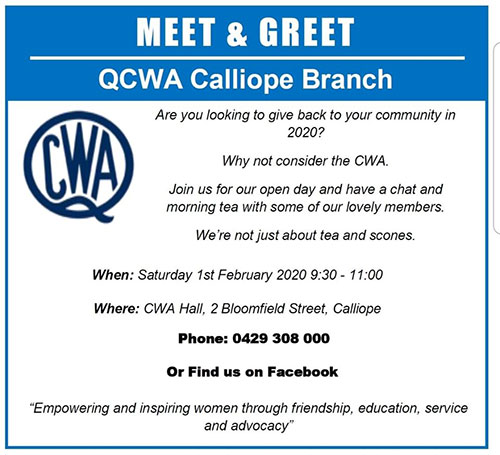 Qcwa calliope branch meet and greet invitation