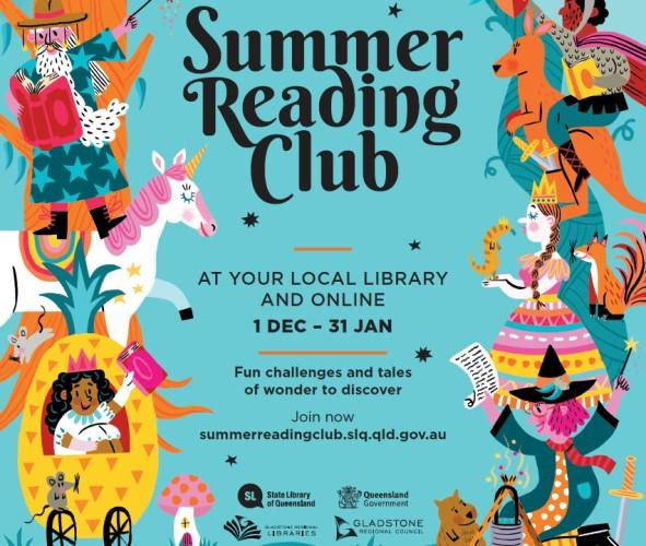 Summer reading club poster branded png