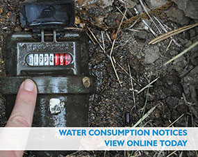 Water consumption notices Advert
